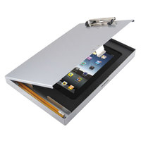 Saunders 45450 Tuffwriter 1/2 inch Capacity 12 inch x 8 1/2 inch Silver Recycled Aluminum iPad 11/16 Storage Clipboard