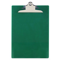 Saunders 21604 1 inch Capacity 12 inch x 8 1/2 inch Green Recycled Plastic Clipboard with Ruler Edge