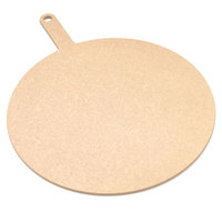 Epicurean 429-211601 Natural 16 inch Richlite Wood Fiber Round Pizza Board with Handle