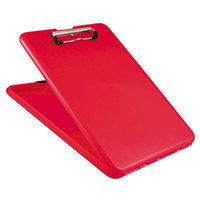 Saunders 00560 SlimMate 1/2 inch Capacity 11 inch x 8 1/2 inch Red Storage Clipboard