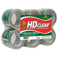 Duck Tape 0007496 3 inch x 55 Yards Clear Heavy-Duty Carton Packaging Tape - 6/Pack