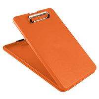 Saunders 00579 SlimMate 1/2 inch Capacity 11 inch x 8 1/2 inch Hi-Visibility Orange Storage Clipboard