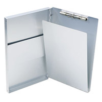 Saunders 10519 Snapak 1/2 inch Capacity 14 inch x 8 1/2 inch Silver Recycled Aluminum Side-Open Form Holder Clipboard