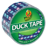 Duck Tape 284169 1 7/8 inch x 10 Yards Colored Whale of a Time Duct Tape