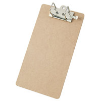 Saunders 05713 2 inch Capacity 14 inch x 8 1/2 inch Brown Arch Clipboard