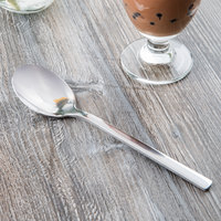 World Tableware 963 002 Elexa 8 1/8 inch 18/0 Stainless Steel Heavy Weight Dessert Spoon - 36/Case