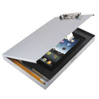 Saunders 45451 Tuffwriter 1/2 inch Capacity 12 inch x 8 1/2 inch Silver Recycled Aluminum iPad Air Storage Clipboard