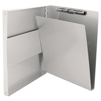 Saunders 10517 Snapak 1/2 inch Capacity 12 inch x 8 1/2 inch Silver Recycled Aluminum Side-Open Form Holder Clipboard