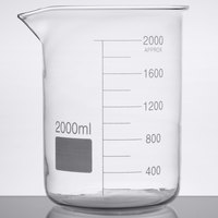 American Metalcraft GBE64 Chemistry Collection 64 oz. (2000 mL) Beaker Glass
