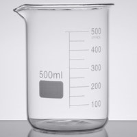 American Metalcraft GBE17 Chemistry Collection 17 oz. (500 mL) Beaker Glass