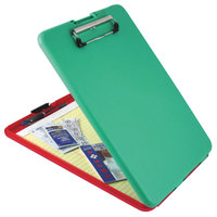 Saunders 00580 SlimMate Show2Know 1/2 inch Capacity 11 3/4 inch x 9 inch Red/Green Safety Storage Clipboard