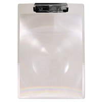 Saunders 24200 MagBoard 1/2 inch Capacity 11 inch x 8 1/2 inch Clear Plastic Clipboard