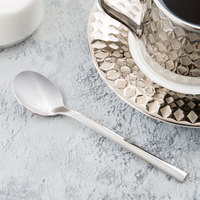 World Tableware 963 007 Elexa 5 1/8 inch 18/0 Stainless Steel Heavy Weight Demitasse Spoon - 36/Case