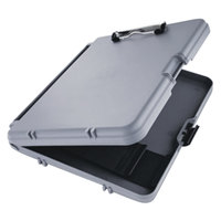 Saunders 00470 WorkMate 1/2 inch Capacity 12 inch x 8 1/2 inch Charcoal/Gray Storage Clipboard