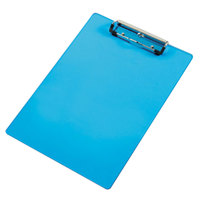 Saunders 21567 1/2 inch Capacity 12 inch x 8 1/2 inch Transparent Blue Acrylic Plastic Clipboard with Ruler Edge