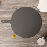 Epicurean 429-211602 Slate 16 inch Richlite Wood Fiber Round Pizza Board with Handle