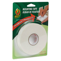 Duck Tape HU156 3/4 inch x 5 Yards White Permanent Foam Mounting Tape