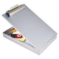 Saunders 11017 Redi-Rite 1 inch Capacity 12 inch x 8 1/2 inch Silver Recycled Aluminum Storage Clipboard