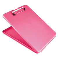 Saunders 00835 SlimMate 1/2 inch Capacity 11 inch x 8 1/2 inch Pink Storage Clipboard
