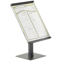 Cal-Mil 1153-15-13 One by One Black Metal Magnetic Sign Display - 8 1/2 inch x 11 inch x 15 inch