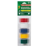Duck Tape 280303 3/4 inch x 4 Yards Assorted Color Electrical Tape - 5/Pack