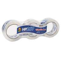 Duck Tape HP260C03 1 7/8 inch x 60 Yards Clear Carton Sealing Tape - 3/Pack