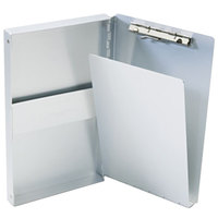 Saunders 10507 Snapak 3/8 inch Capacity 9 1/2 inch x 5 11/16 inch Silver Recycled Aluminum Side-Open Form Holder Clipboard