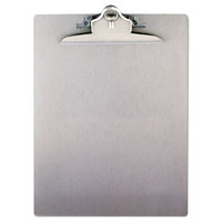 Saunders 22517 1 inch Capacity 12 inch x 8 1/2 inch Silver Recycled Aluminum Clipboard