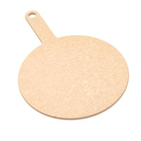 Epicurean 429-151001 Natural 10 inch Richlite Wood Fiber Round Pizza Board with Handle