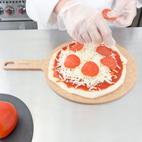 Epicurean 429-151001 10 inch Natural Richlite Wood Fiber Round Pizza Board with 5 inch Handle