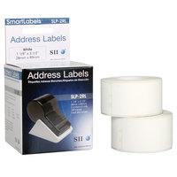 Seiko Instruments SLP2RL 1 1/8 inch x 3 1/2 inch White Self-Adhesive Printable Address Labels   - 260/Box
