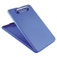 Saunders 00559 SlimMate 1/2 inch Capacity 11 inch x 8 1/2 inch Blue Storage Clipboard