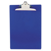 Saunders 21602 1 inch Capacity 12 inch x 8 1/2 inch Blue Recycled Plastic Clipboard with Ruler Edge