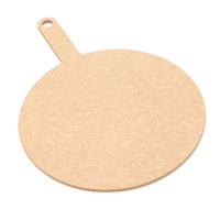 Epicurean 429-171201 Natural 12 inch Richlite Wood Fiber Round Pizza Board with Handle