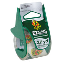 Duck Tape 07307 EZ Start 1 7/8 inch x 22 1/4 inch Yards Clear Carton Sealing Tape with Dispenser