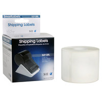 Seiko Instruments SLPSRL 2 1/8 inch x 4 inch White Self-Adhesive Printable Shipping Label   - 220/Box