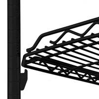 Metro HDM2448Q-DBM qwikSLOT Drop Mat Black Matte Wire Shelf - 24 inch x 48 inch