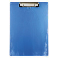 Saunders 00439 1/2 inch Capacity 12 inch x 8 1/2 inch Ice Blue Recycled Plastic Clipboard with Ruler Edge