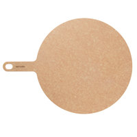 Epicurean 429-191401 Natural 14 inch Richlite Wood Fiber Round Pizza Board with Handle