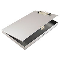 Saunders 45300 Tuffwriter 1/2 inch Capacity 12 inch x 8 1/2 inch Gray Recycled Aluminum Storage Clipboard