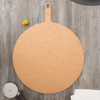 Epicurean 429-231801 Natural 18 inch Richlite Wood Fiber Round Pizza Board with Handle
