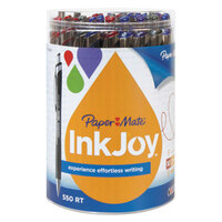 Paper Mate 1862363 InkJoy 500 RT Assorted Ink with Assorted Barrel Color 1mm Retractable Ballpoint Pen   - 36/Set