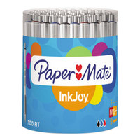 Paper Mate 1792817 InkJoy 700 RT Assorted Ink with White Barrel 1mm Retractable Ballpoint Pen   - 36/Set