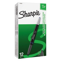 Sharpie 1758056 Grip Blue Ink with Black Barrel 0.5mm Water Resistant Porous Point Pen - 12/Pack