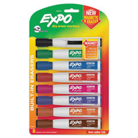 Expo 1944741 Assorted 8-Color Chisel Tip Magnetic Dry Erase Marker - 8/Pack