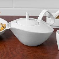 Schonwald 9394340 Grace 15.25 oz. Continental White Porcelain Teapot with Lid - 6/Case