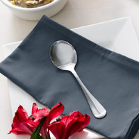 Acopa Midland 6 inch 18/0 Stainless Steel Medium Weight Bouillon Spoon - 12/Case