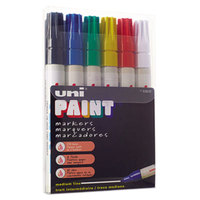 Uni-Paint Markers 63630 6 Assorted Medium Point Markers