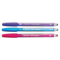 Paper Mate 1951409 InkJoy 100 Assorted Ink with Assorted Barrel Color 1mm Stylus / Capped Ballpoint Pen - 3/Pack
