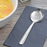 Choice Dominion 5 7/8 inch 18/0 Stainless Steel Bouillon Spoon   - 12/Case